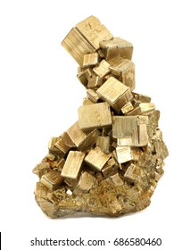 An Iron Pyrite crystal cluster