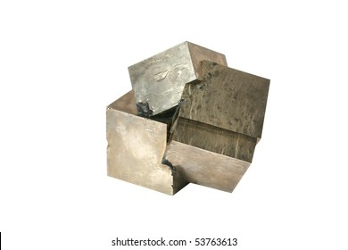 iron pyrite crystals