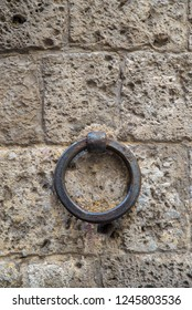 iron ring on a stone wall