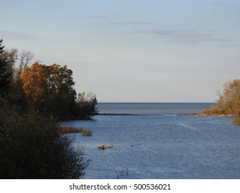 Iron River Flowing Into Lake Superior in Wisconsin