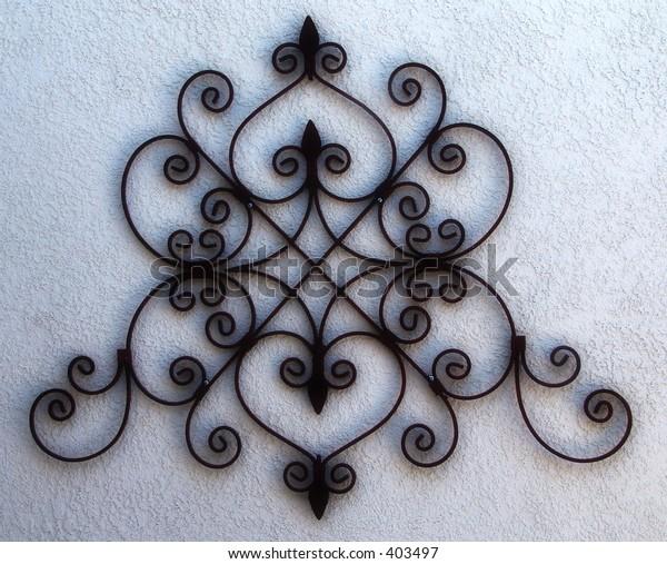 Iron scroll work detail