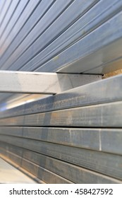 iron and steel building materials in the construction site