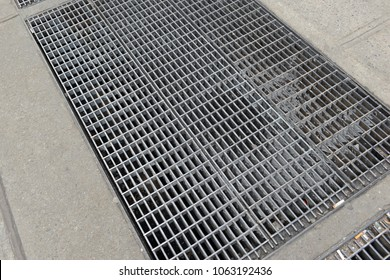 Iron Subway grates on sidewalk of Manhattan in New York City, made famous by the vintage photo of Marilyn Monroe standing atop of one in a dress