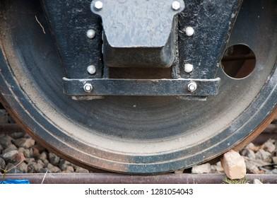 Iron wheel of the steam railway bogie