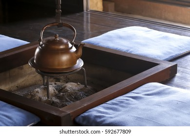 Irori - traditional Japanese sunken hearth.