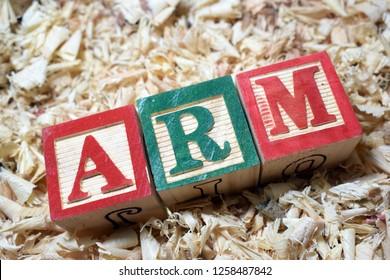 IRR internal rate on return on wooden block