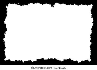 Irregular black picture, photo or menu  frame