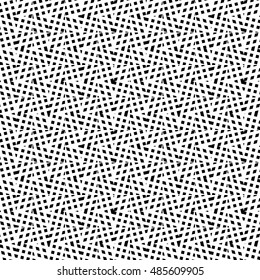 Irregular grid, mesh seamlessly repeatable monochrome pattern. Abstract geometric texture.