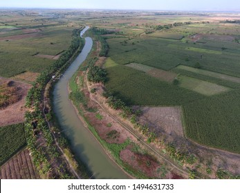 irrigation in agricultural areas. Paddy irrigation system in Indonesia, Canal as water distribution for fields
