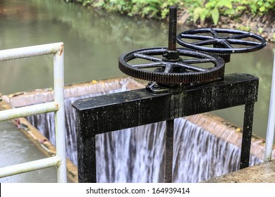Irrigation Canal and Floodgate valve