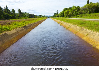 Irrigation canal in the rainy season ,Northern in thailand