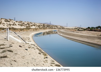 Irrigation Canal supplying water to the crops of the Coachella Valley