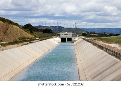 Irrigation canal for watering farm land.