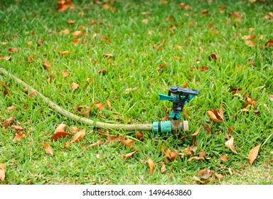 Irrigation sprinkler for garden of a country house with rubber hose