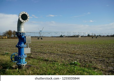 irrigation system of crops in the fields
