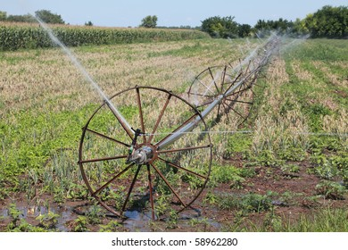 Irrigation system for water supply in field
