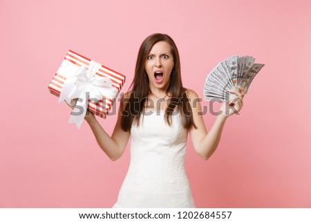 Irritated Bride Woman White Wedding Dress Stock Photo Edit Now