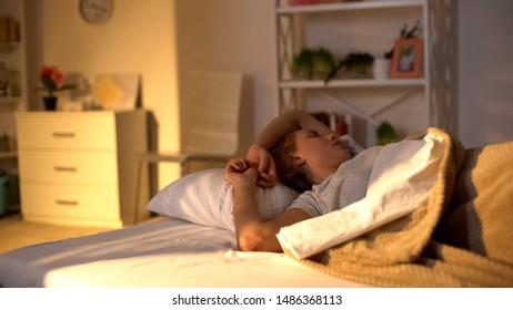 Irritated sleepy lady cant wake up, bad mood in morning, sleep cycle, laziness