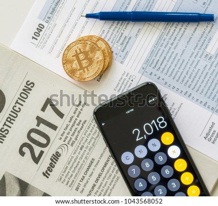 Irs 1040 Tax Form Instructions Used Stock Photo Edit Now