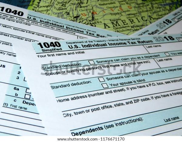 form 1040 us individual tax return  Irs Form 14 Us Individual Tax Stock Photo (Edit Now ...