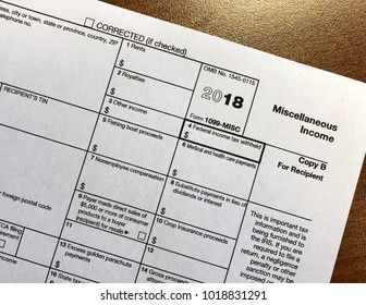 IRS Tax Form 1099-Miscellaneous Income
