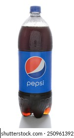 IRVINE, CA - FEBRUARY 7, 2015: A bottle of Pepsi. Pepsi is a carbonated drink first introduced in 1893 as Brad's Drink and renamed to Pepsi-Cola in 1898 and shortened to Pepsi in 1961.