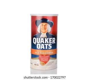 IRVINE, CA - January 05, 2014: A box of Quaker Oats Old Fashioned. Founded in 1901 the Quaker Oats Company has been owned by Pepsico since 2001.
