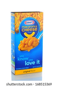 IRVINE, CA - JANUARY 11, 2013: A box of Kraft Macaroni and Cheese. The packaged meal was first introduced in 1937 during the Great Depression.