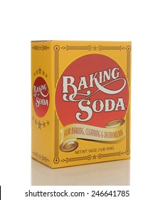 IRVINE, CA - JANUARY 23, 2015: A box of Baking Soda. The sodium bicarbonate is distributed by Greenbrier International is used for baking, cleaning and deodorizing.