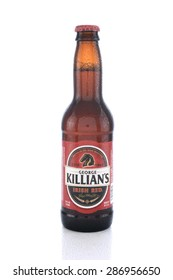 IRVINE, CA - JUNE 14, 2015: George Killians Irish Red. The brand was introduced to America by Coors who purchased the rights from Pelforth Brewery.