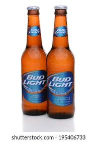 IRVINE, CA - MAY 27, 2014: Two bottles of Bud Light with condensation. From Anheuser-Busch InBev, Bud Light is the top selling domestic beer in the United States.