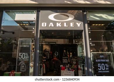 Irvine, CA / USA - 11/20/2018: Oakley Store Location