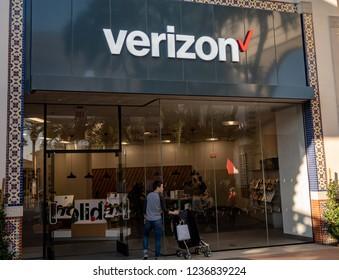 Irvine, CA / USA - 11/20/2018: Verizon Store Location