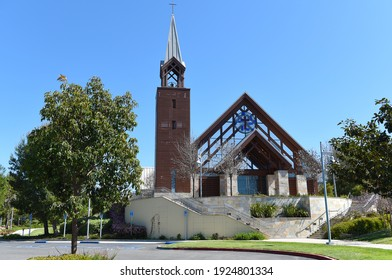 IRVINE, CALIFORNIA - 16 APRIL 2020: The Chapel at Mariners Church, a non-denominational, Christian Church located in central Orange County.