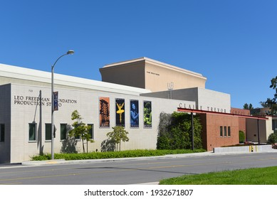 IRVINE, CALIFORNIA - 16 APRIL 2020: Leo Freedman Foundation Production Studio at The Claire Trevor School of the Arts on the campus of the University of California Irvine, UCI.