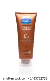 IRVINE, CALIFORNIA - AUGUST 20, 2019: a 6.8 ounce tube of Vaseline Intensive Care Healing Serum 10x.