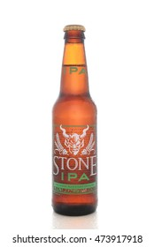 IRVINE, CALIFORNIA - AUGUST 25, 2016: Stone IPA. From the  Stone Brewing Company, in Escondido, the largest brewery in Southern California.