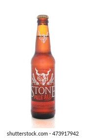 IRVINE, CALIFORNIA - AUGUST 25, 2016: Stone Pale Ale. From the Stone Brewing Company, in Escondido, the largest brewery in Southern California.