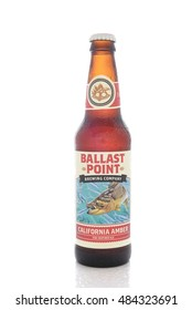 IRVINE, CALIFORNIA - AUGUST 25, 2016: Ballast Point California Amber. Ballast Point, founded in 1996, was the first microdistillery in San Diego since Prohibition.