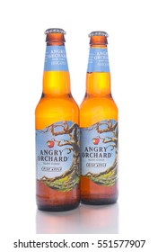 IRVINE, CALIFORNIA - JANUARY 8, 2017: Angry Orchard Hard Cider. Located near Walden, New York, and owned by the Boston Beer Company.