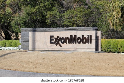 IRVING, TX � MARCH 14: An entrance to the ExxonMobil world headquarters located in Irving, Texas on March 14, 2014. ExxonMobil is the world's largest publicly traded international oil and gas company.