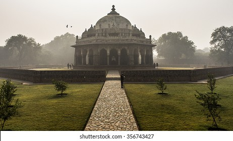 Isa khan's Tomb,New Delhi, India Tomb is situated near Humayun's Tomb.Tomb was built during Mughal period and resemble with Lodhi dynasty architecture..Isa Khan's Tomb is surrounded by garden.