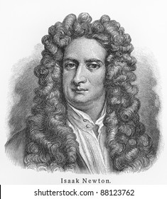 Isaac Newton - Picture from Meyers Lexicon books written in German language. Collection of 21 volumes published  between 1905 and 1909.