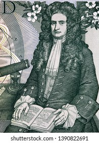 Isaac Newton a portrait from old English money