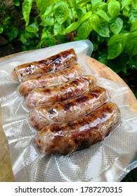 Isaan sausage is Thai food of Thai peple in northeastern Thailand