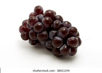 Isabella grape on a white background