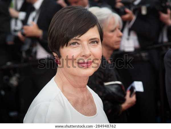 Isabella Rossellini attends the opening ceremony and premiere of La Tete Haute ( Standing Tall ) during the 68th annual Cannes Film Festival on May 13, 2015 in Cannes, France.