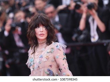 Isabelle Adjani attends  the opening gala during the 71st annual Cannes Film Festival at Palais des Festivals on May 8, 2018 in Cannes, France.