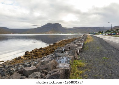 Isafjordur beautiful town in west fjords, Iceland