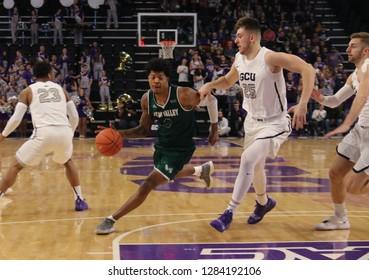 Isaiah White guard for Utah Valley Utah Valley at GCU Arena in Phoenix, Arizona/USA January 3,2018.